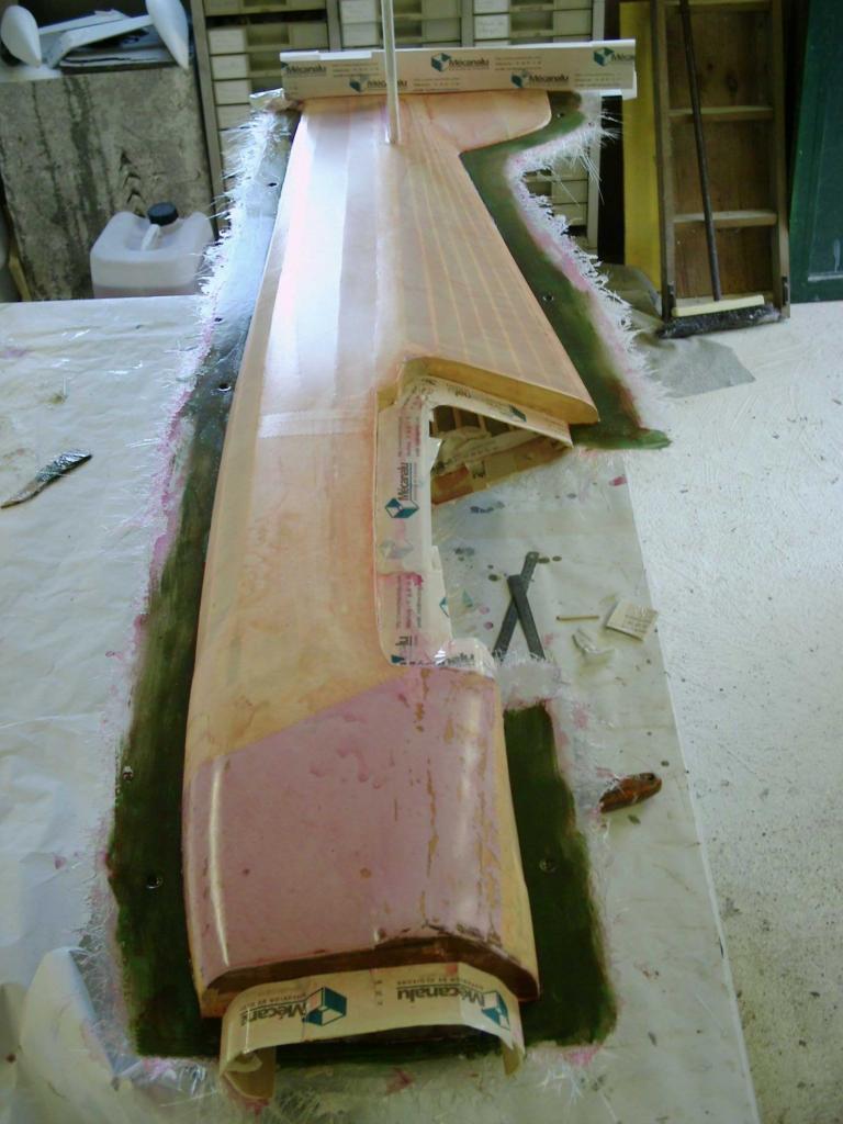 1ere demi coquille du fuselage réalisée
