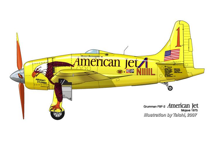 Grumman  F8F Bearcat 1975_Color Profil