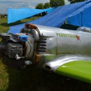 peu de vols pour le yak , donc toujours en rodage Motorisé par  le DLE  111cc