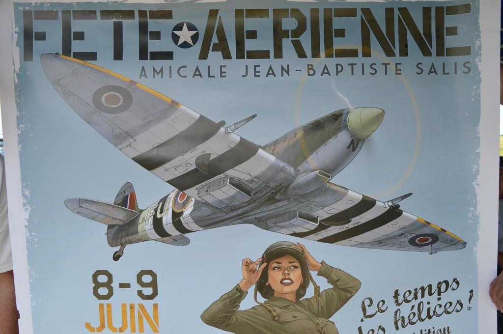 Le Spitfire de C, Baudet est déja à l'affiche ,  hi..  hi ... hi.....
