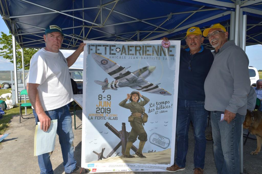 Affiche officielle du Show de La Ferté Alais remis  à mon Bras droit  G. Watelet