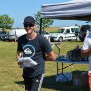 Nicolas notre chef de piste de tout le weekend- Teeshirt et cidre