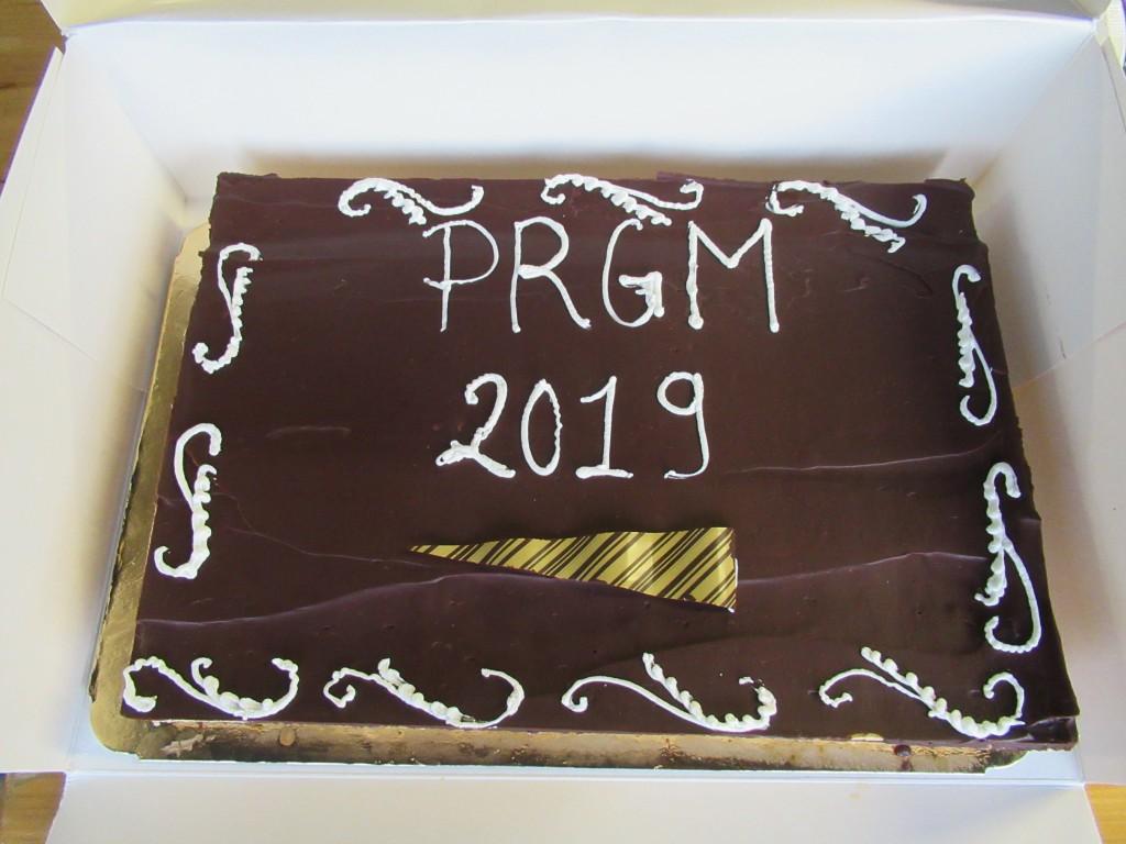 Le gateau  du samedi soir offert à tous  par le PRGM