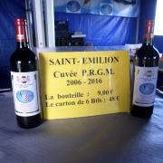 Le Saint - émillion  2012 offert par le PRGM