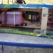 instalation radio sur un fuselage fibre