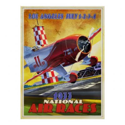 vintage airplane racer