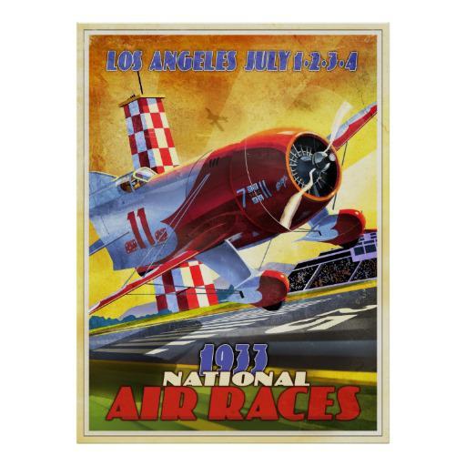 """vintage airplane racer """" Los Angeles 1933 """""""